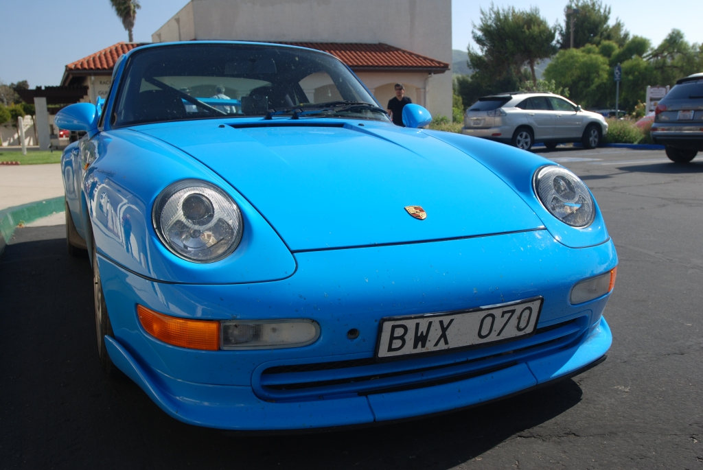 Mexico Blue 1996 Porsche 993 Carrera RS_front view_RGruppe Solvang Treffen _May 5, 2012
