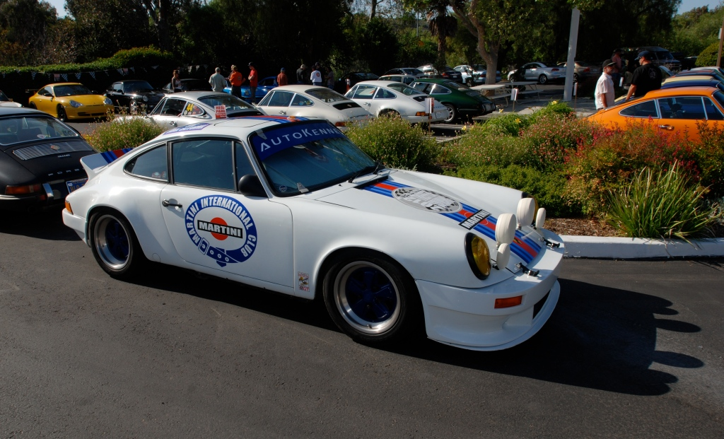 White Porsche 911_Martini Rally car_3/4 side view_RGruppe Solvang Treffen _May 5, 2012