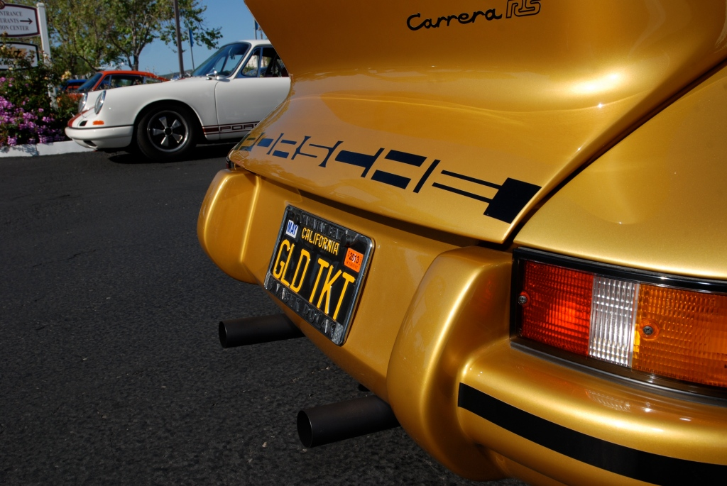 Gold Porsche 911 Carrera RS clone_rear spoiler detail_RGruppe Solvang Treffen _May 5, 2012
