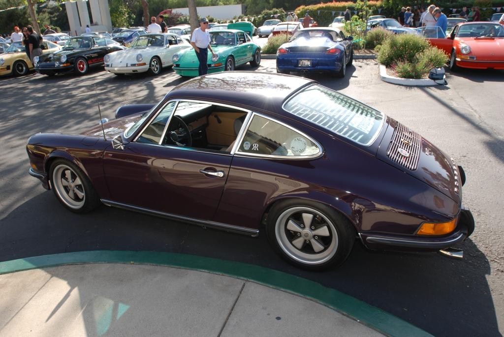 Aubergine 1973 Porsche 911T_side view_RGruppe Solvang Treffen _May 5, 2012
