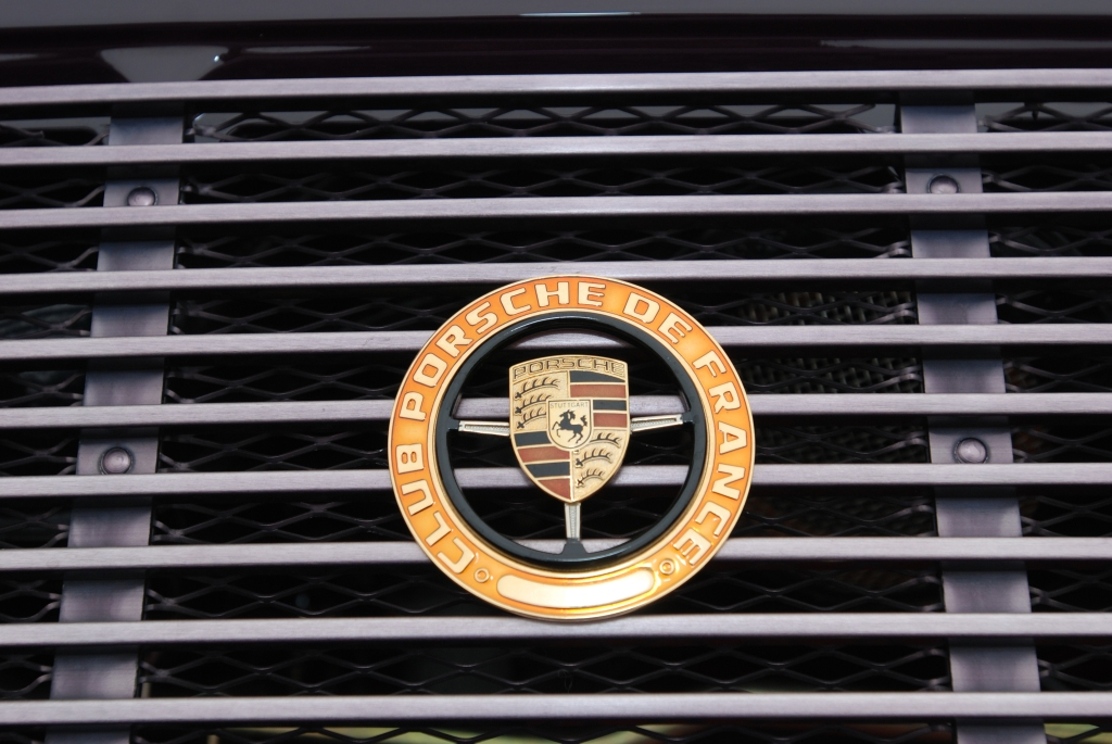 1973 Porsche 911T_rear grill badge_Cars&Coffee_5/28/12