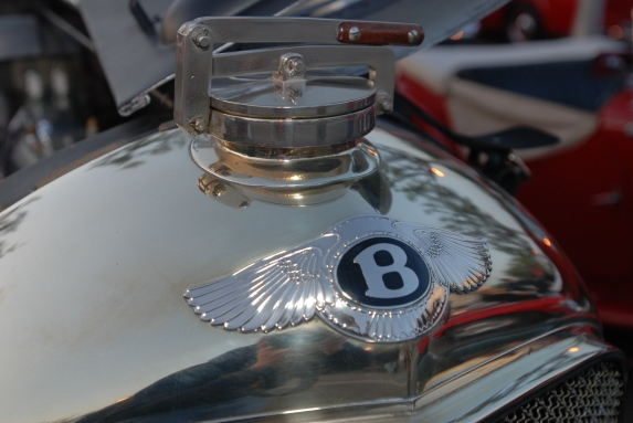 Vintage Bentley radiator cap and badge_ Cars&Coffee_5/28/12
