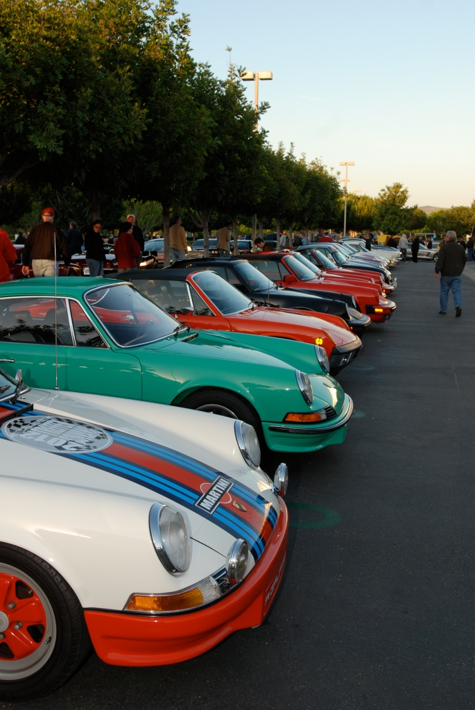 Porsche row_Cars&Coffee/Irvine_April 28, 2012