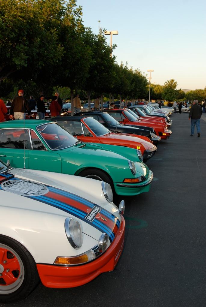 Porsche row_Cars&Coffee/Irvine_April 28, 2012