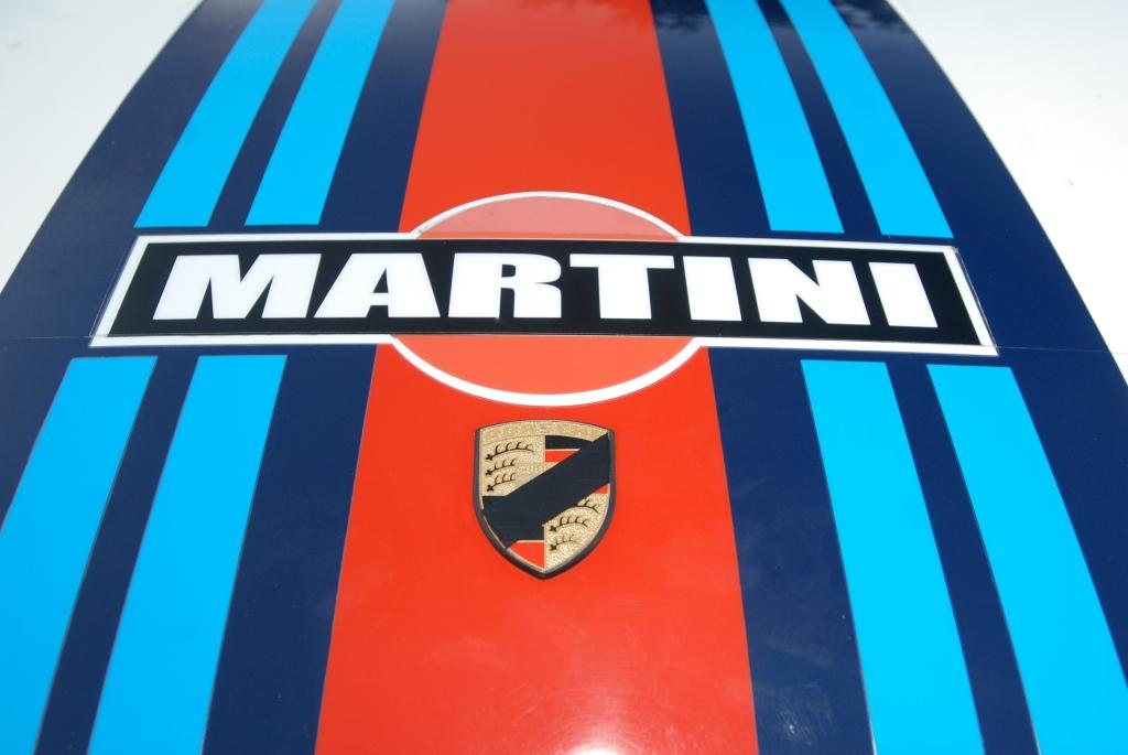 White Porsche 911 w/Martini hood graphic & Butzi tribute badge sash_Cars&Coffee/Irvine_April 28, 2012White Porsche 911 w/Martini hood graphic_Cars&Coffee/Irvine_April 28, 2012