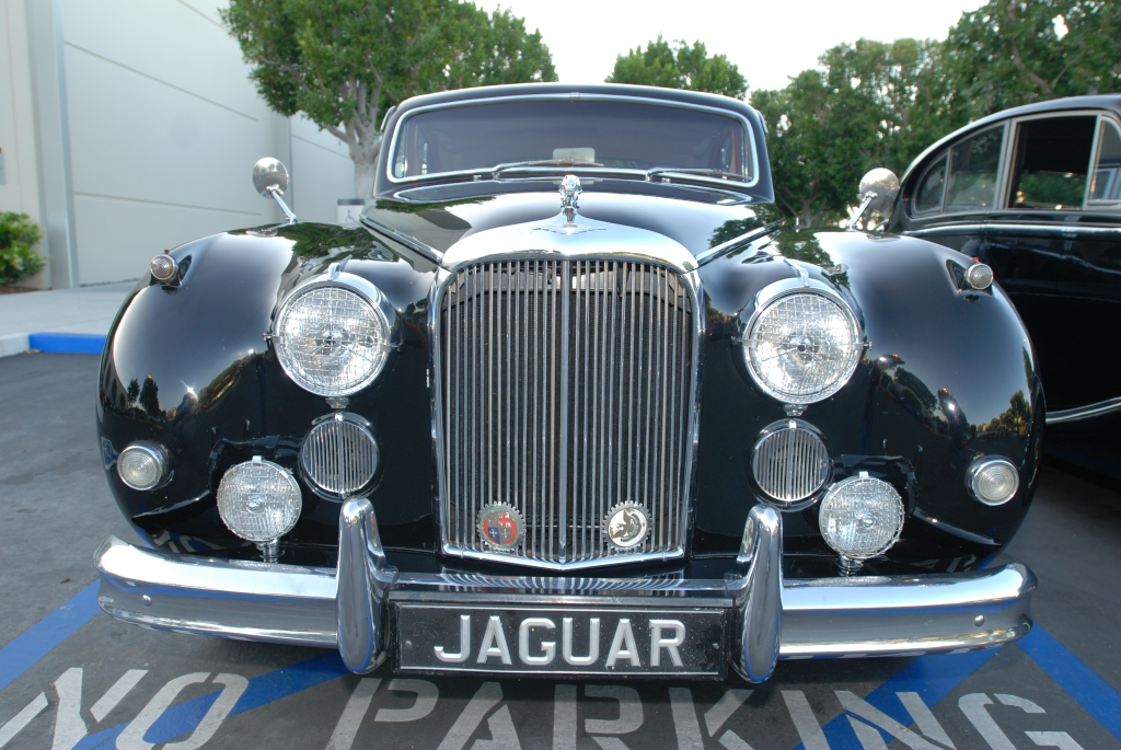 Dark Green classic Jaguar touring sedan_Cars&Coffee/Irvine_April 28, 2012