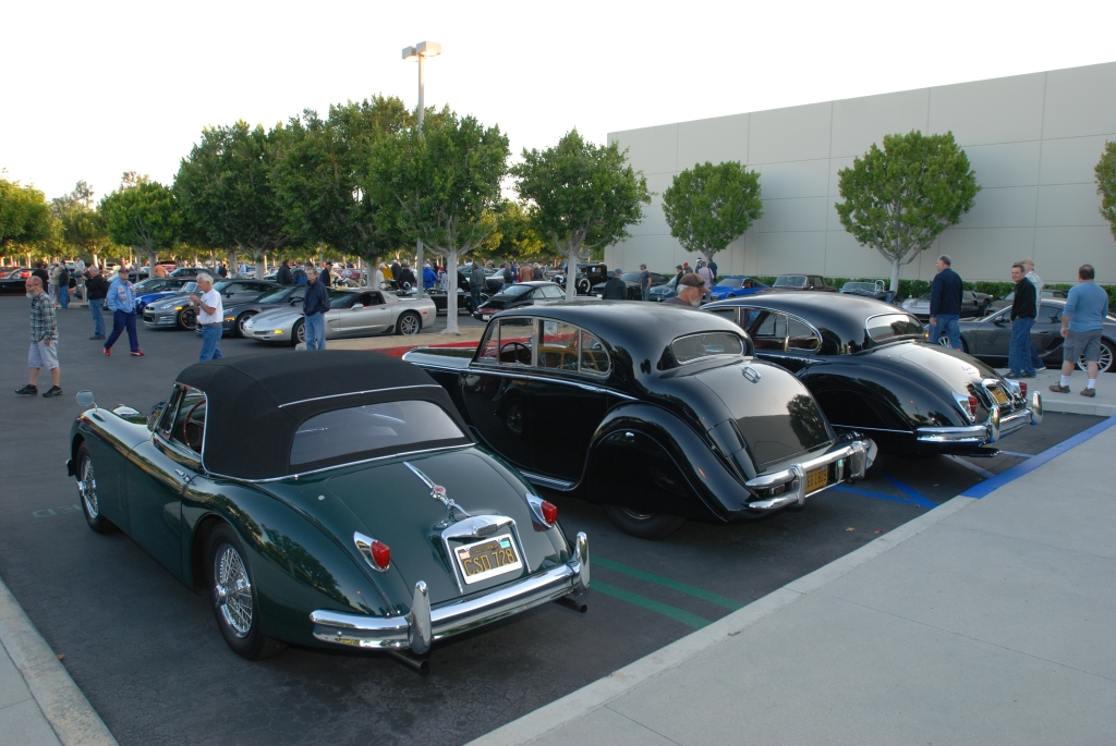 A trio of Jaguars_3/4 rear view_Cars&Coffee/Irvine_April 28, 2012
