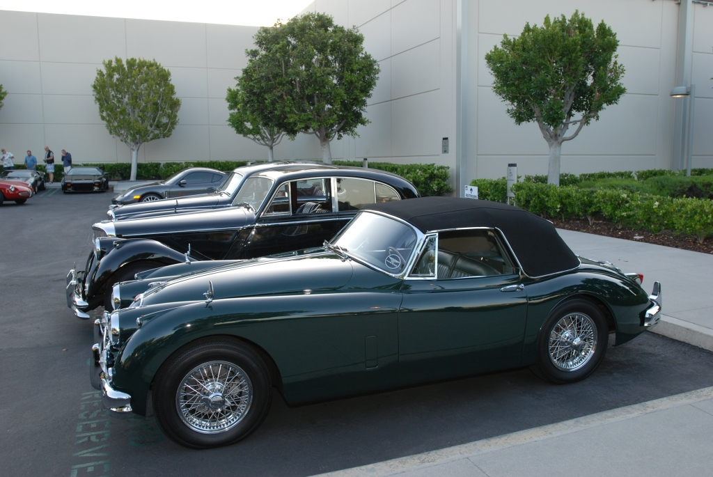 A trio of Jaguars_side view_Cars&Coffee/Irvine_April 28, 2012