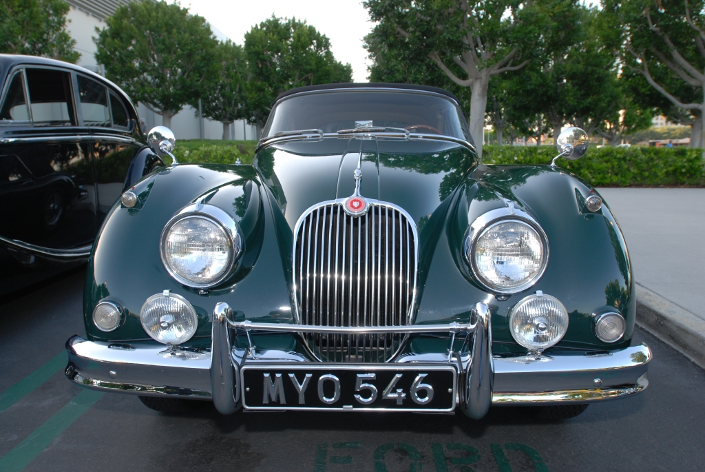 Green Jaguar XK-150 roadster_Cars&Coffee/Irvine_April 28 ,2012