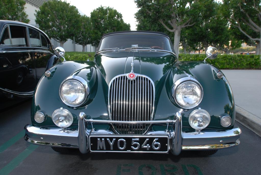 Green Jaguar XK-150 roadster_Cars&Coffee/Irvine_April 28 ,2012
