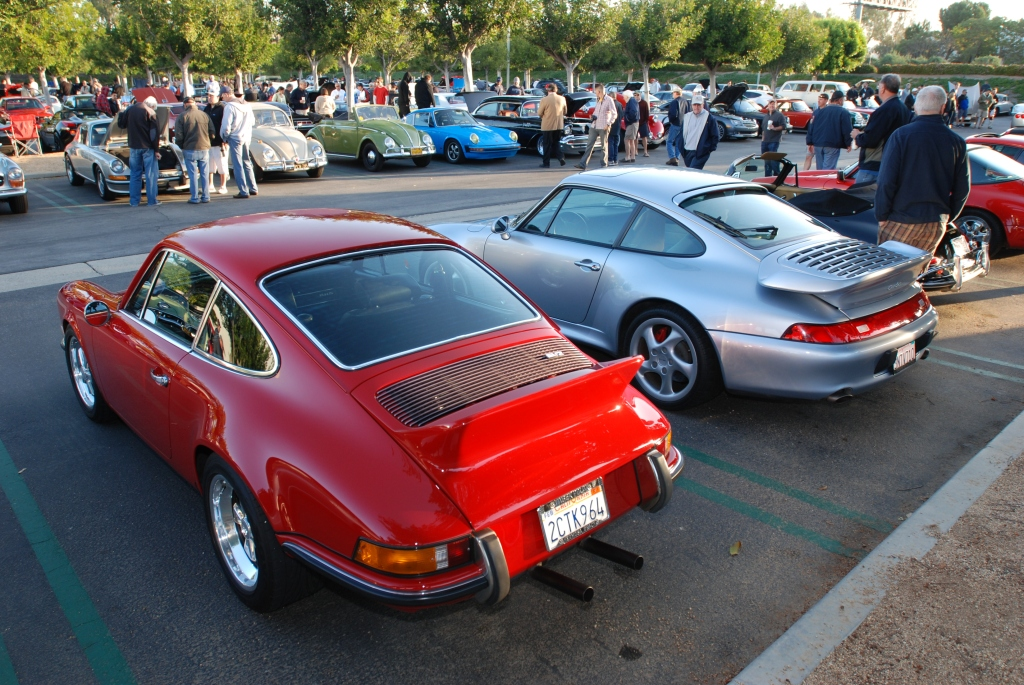 Red RGruppe Porsche 911 & silver Porsche 993 turbo_Cars&Coffee/Irvine_April 28, 2012