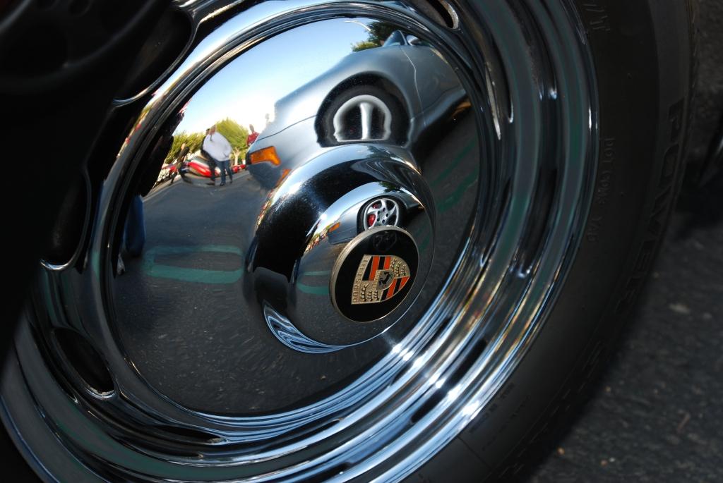 Porsche 356 hucap reflection_Cars&Coffee/Irvine_April 28, 2012