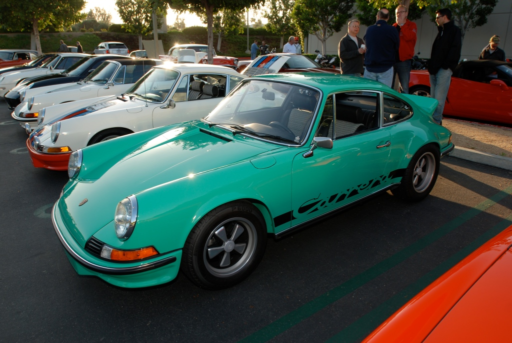 Green 1973 Porsche 911 Carrera RS_Cars&Coffee/Irvine_April 28, 2012