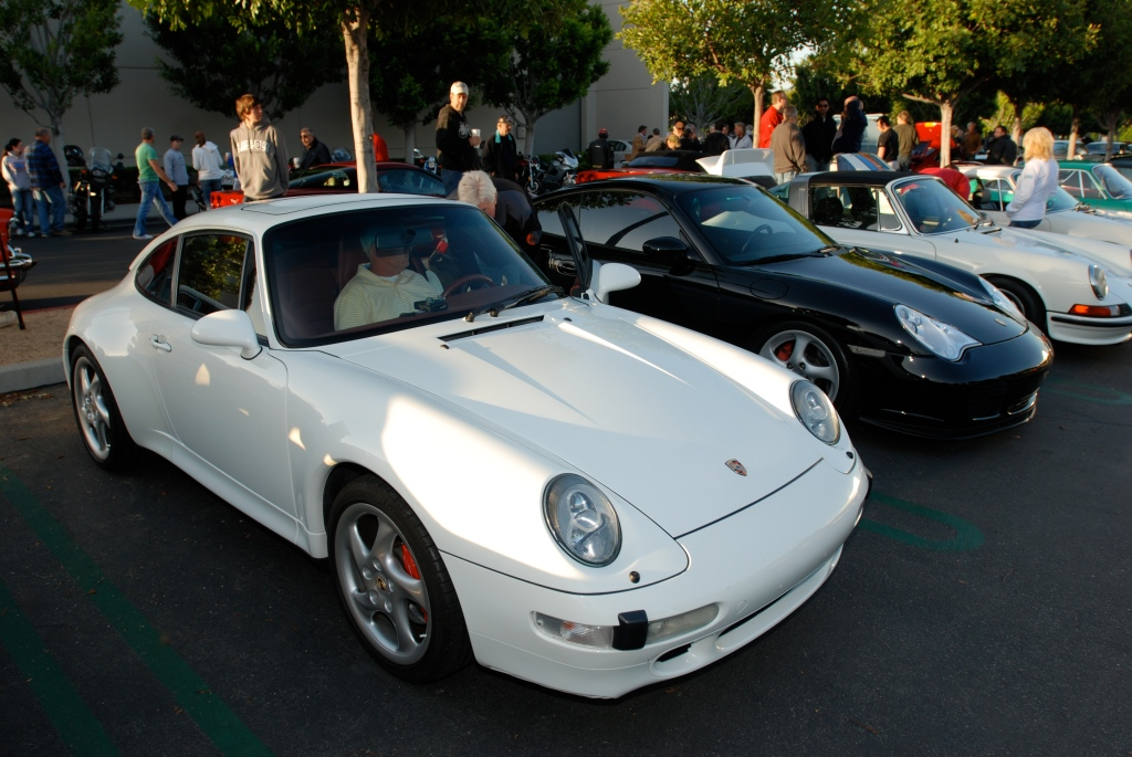 White Porsche 993 Carrera 4S_Cars&Coffee/Irvine_April 28,2012