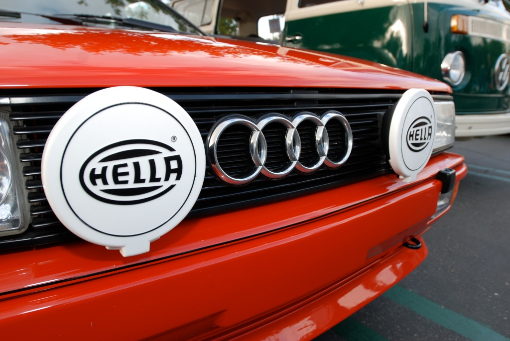 Red 1980's Audi Quattro_Cars&Coffee_5/28/12