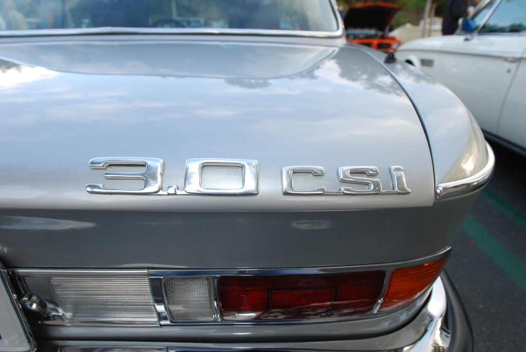 Silver BMW 3.0CSI_ rear trunk model ID_Cars&Coffee_5/28/12