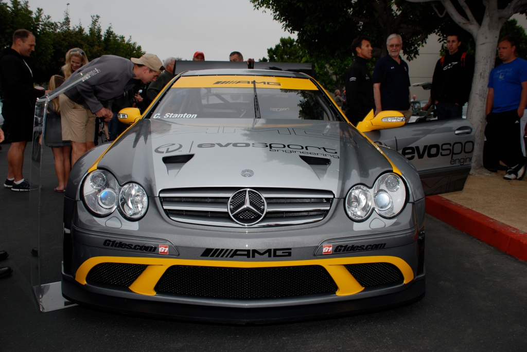 MBBS /Evosport Engineering_silver Mercedes Benz CLK AMG black series race car_front view_Cars&Coffee_JUne 2, 2012