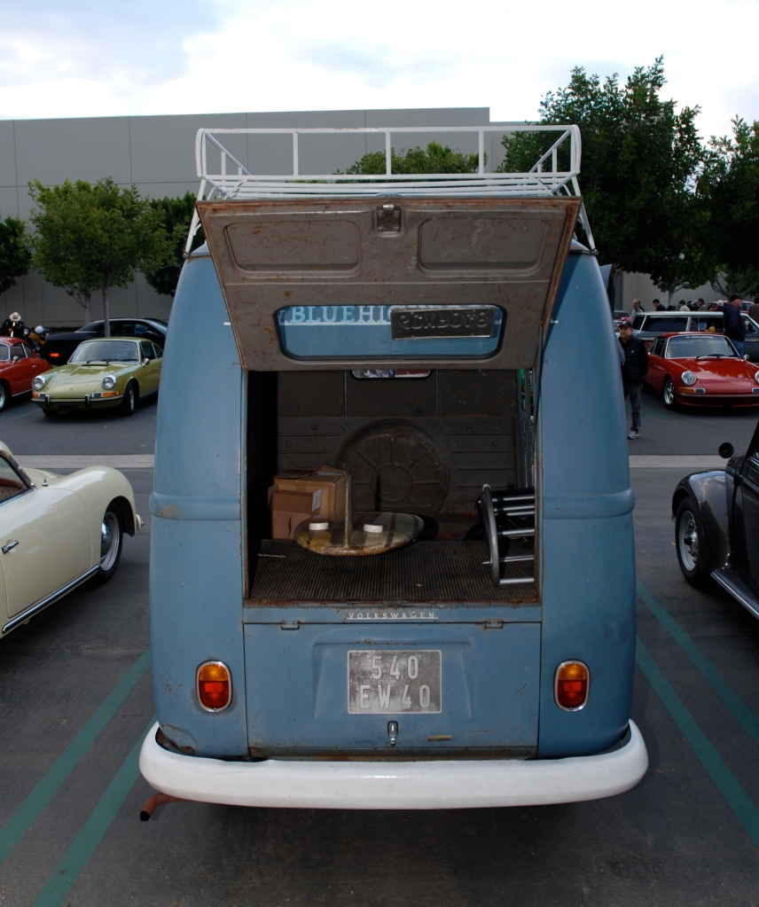 Dove blue VW type II transporter _rear view_Cars&Coffee_May 26, 2012