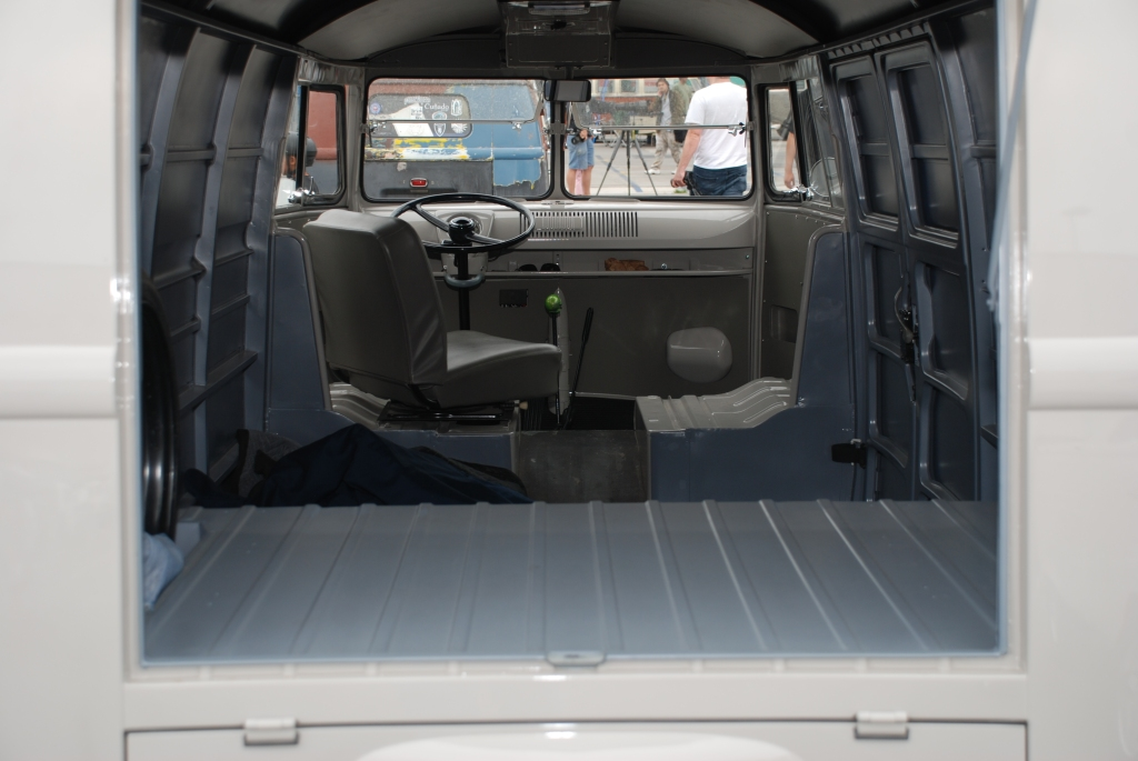 VW type II transporter  _Gray Panelvan_blue tinted interior _The 2012 O.C.T.O  show_June 9, 2012