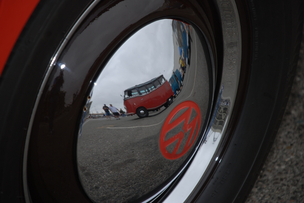 VW type II transporters _Barndoor display _hubcap reflection_The 2012 O.C.T.O  show_June 9, 2012