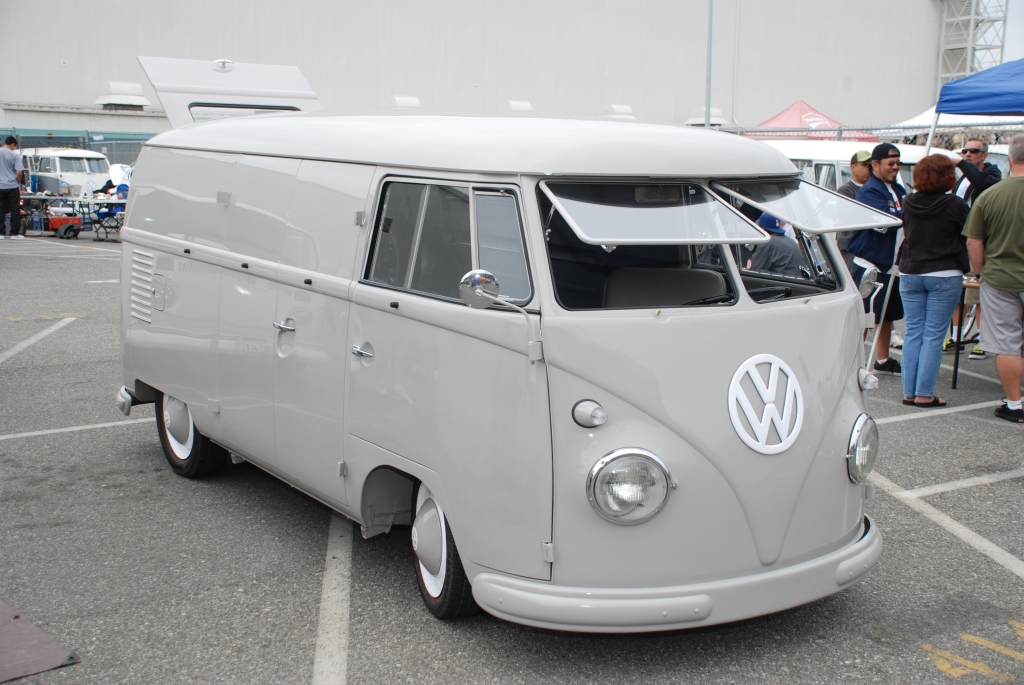VW type II transporter  _Gray Panelvan_3/4 side view_The 2012 O.C.T.O  show_June 9, 2012