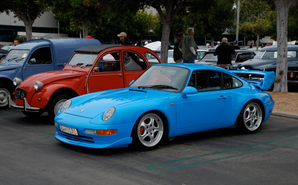 Mexico Blue Porsche 993 Carrera RS Club Sport_Cars&Coffee/Irvine_June 16, 2012
