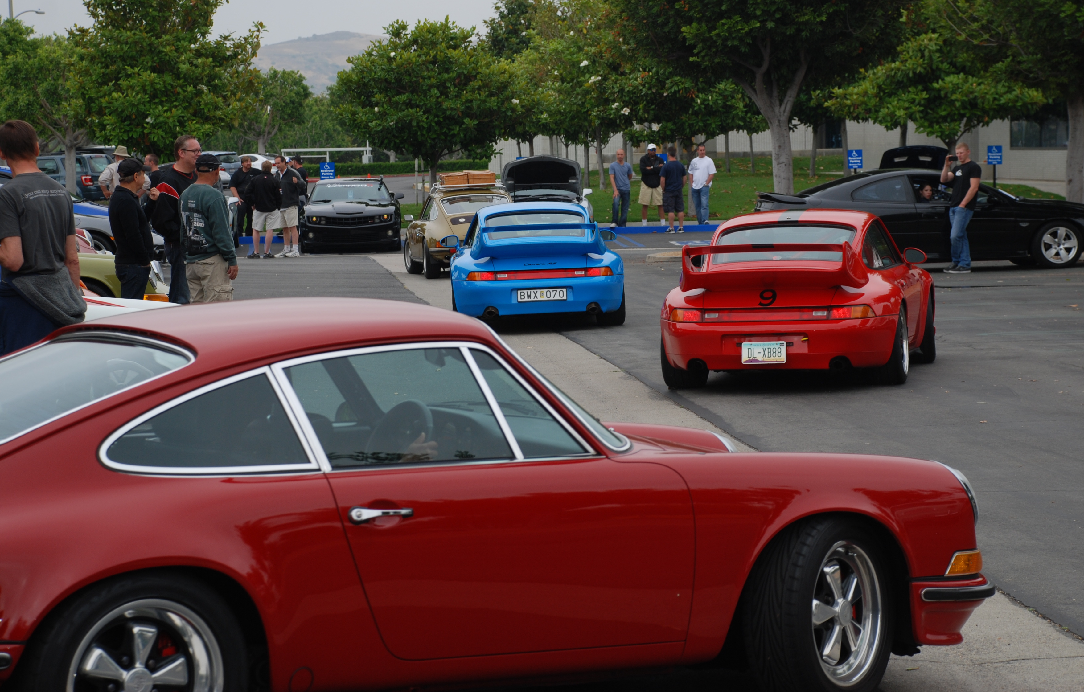 A Porsche 993 Carrera RS Club Sport comes face to face with its