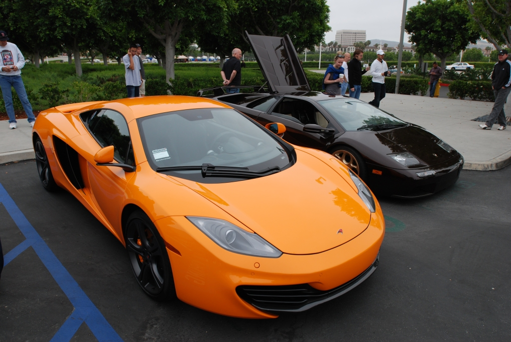 """McLaren Orange"" McLaren MP4-12C_3/4 front view_Cars&Coffee/Irvine_June 23, 2012"