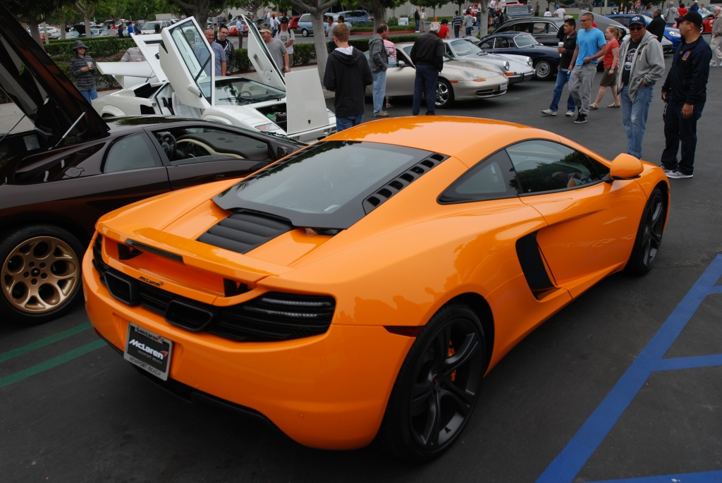 """McLaren Orange"" McLaren MP4-12C_3/4 rear view_Cars&Coffee/Irvine_June 23, 2012"