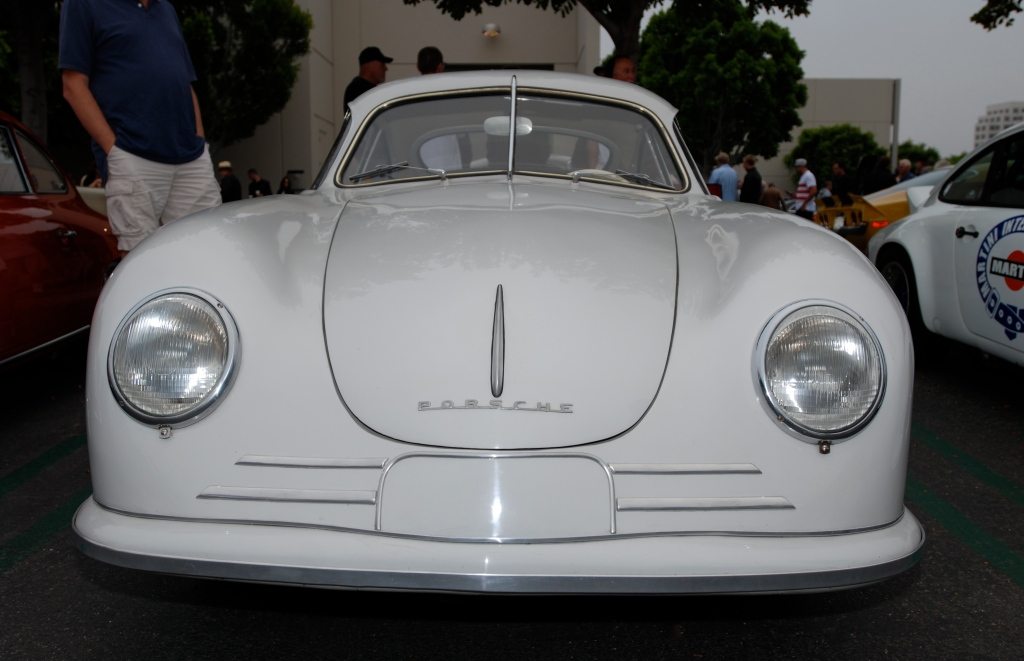 Ivory Porsche 356/2 Gmund coupe_front view_Porsche row__cars&coffee_July 7, 2012