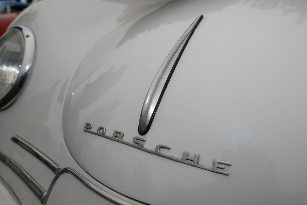 Ivory Porsche 356/2 Gmund coupe_front hood detail__cars&coffee_July 7, 2012