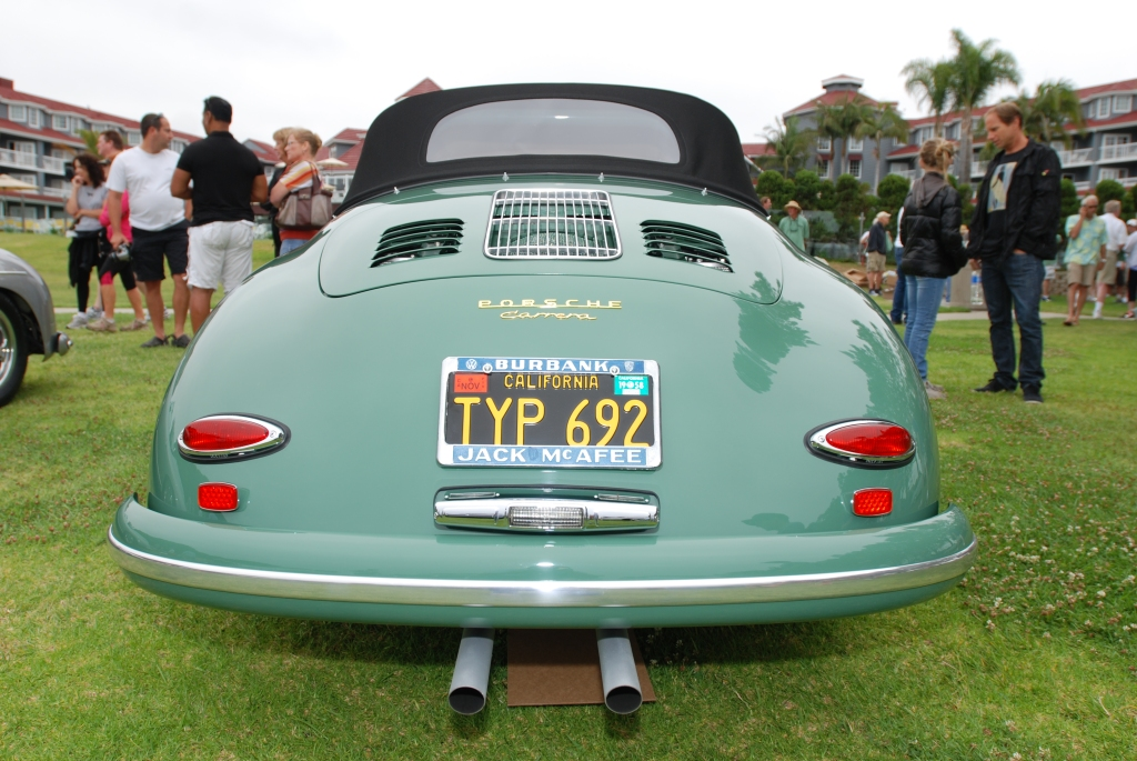 Porsche 356 Registry_ Pale Green Carrera Cabriolet _ rear view _Dana Point concours _July 15, 2012