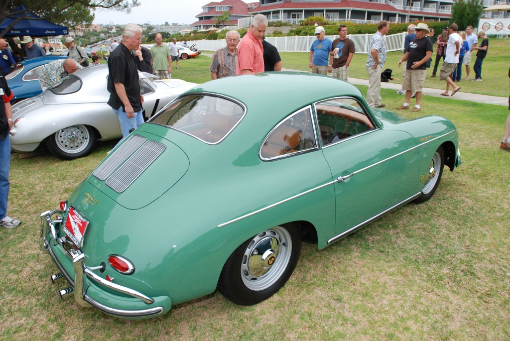 Porsche 356 Registry_ Pale Green Carrera coupe/ first row_Dana Point concours _July 15, 2012