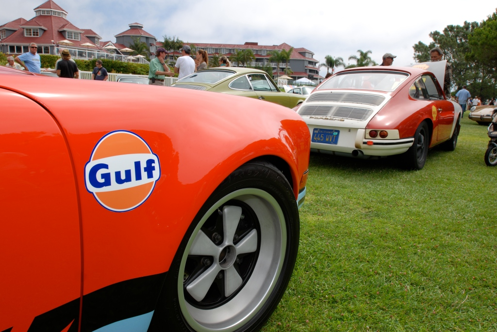 356 Registry_ group shot / gulf oil & shell oil 911s_Dana Point concours _July 15, 2012