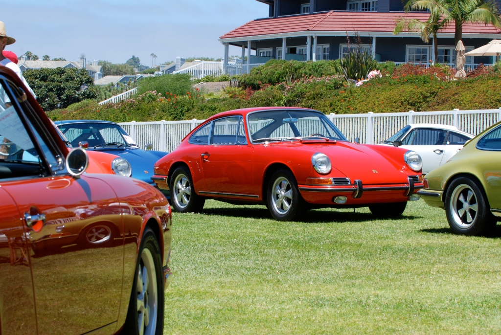 356 Registry_ Porsche 911 display_Red 1966 911 _Dana Point concours _July 15, 2012