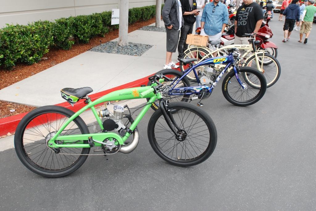 a trio of Dutchman Motorbikes_motorcycle row_Cars&Coffee/Irvine_June 23, 2012