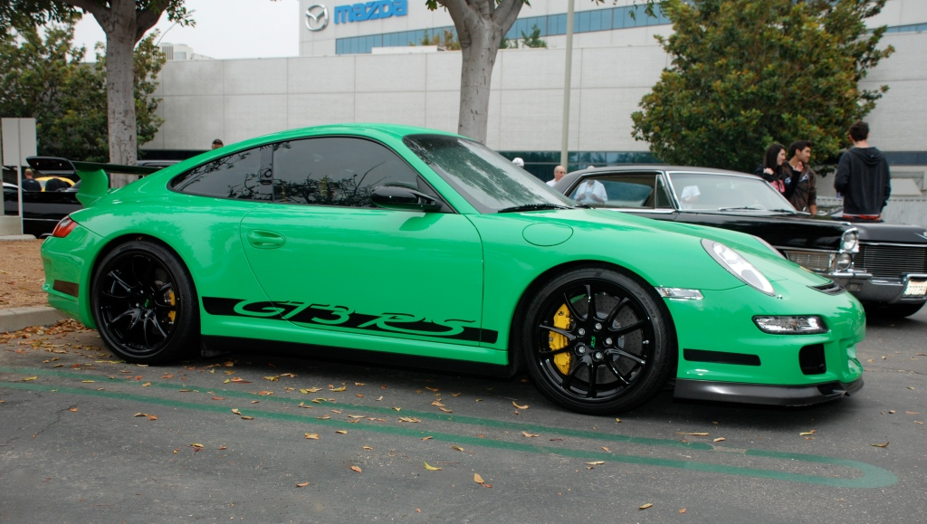2007 Viper Green Porsche GT3RS _ 3/4 side view_Cars&Coffee/Irvine_August 25, 2012