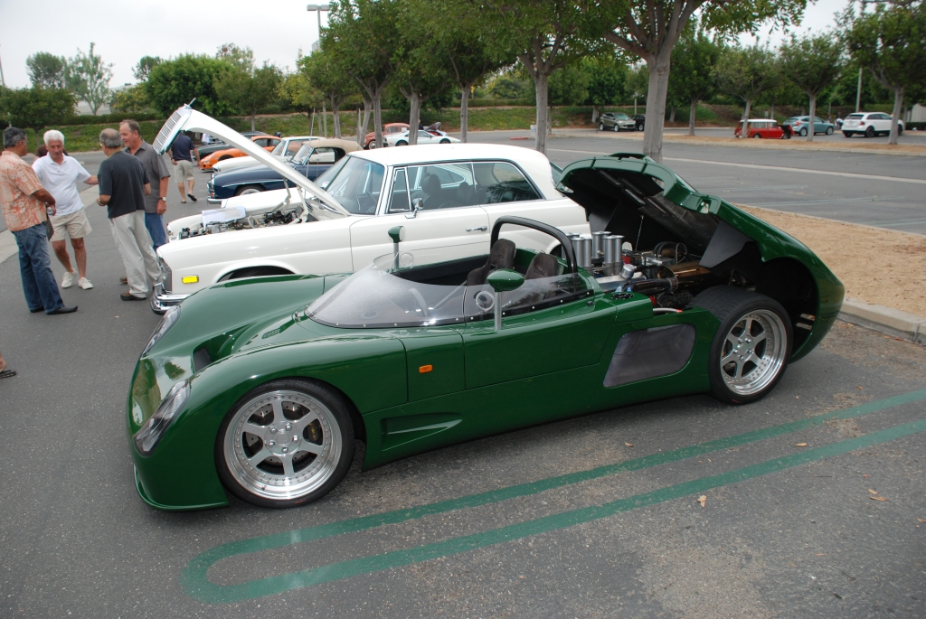 British Racing Green Ultima Can Am_3/4 side view_Cars&Coffee/Irvine_August 25, 2012