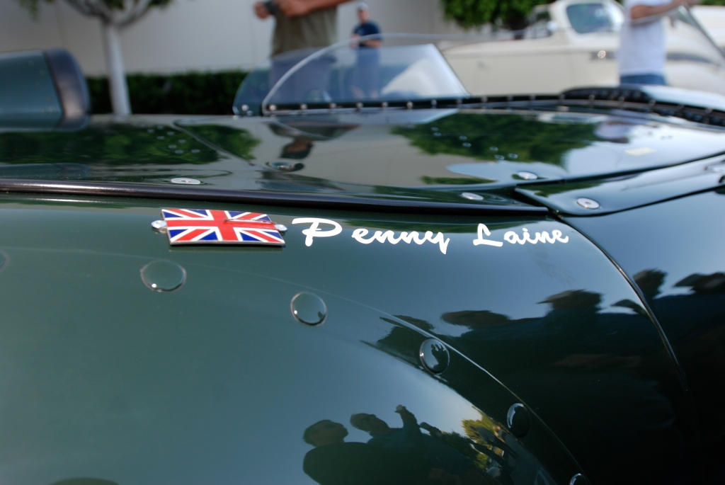 British Racing Green Jaguar E-type race car_1 of only 16_badging&reflections_Cars&Coffee / Irvine_July 28, 2012
