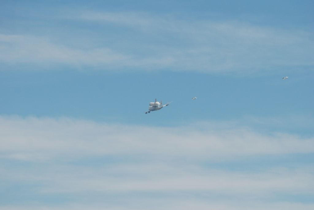 Space shuttle Endeavour's final flight_heading towards JPL, Pasadena, CA._Friday September 21, 2012