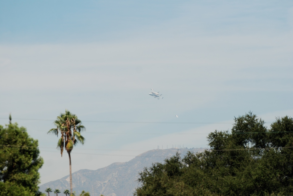 Space shuttle Endeavour's final flight_second approach towards South Pasadena, CA_Friday September 21, 2012