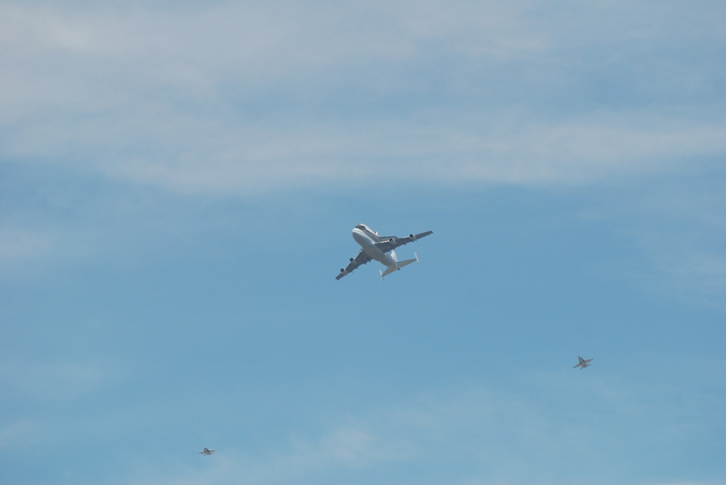 Space shuttle Endeavour's final flight_second approach towards South Pasadena, CA_photo 2_Friday September 21, 2012