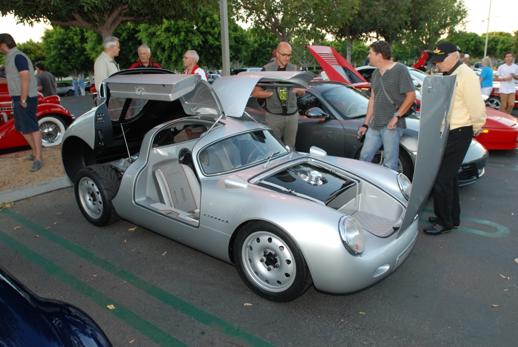 silver Vintech P-550 tribute_Opened up for viewing_Cars&Coffee/Irvine_September 1, 2012