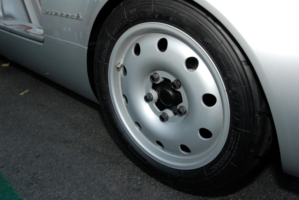 silver Vintech P-550 tribute_front wheel detail_Cars&Coffee/Irvine_September 1, 2012