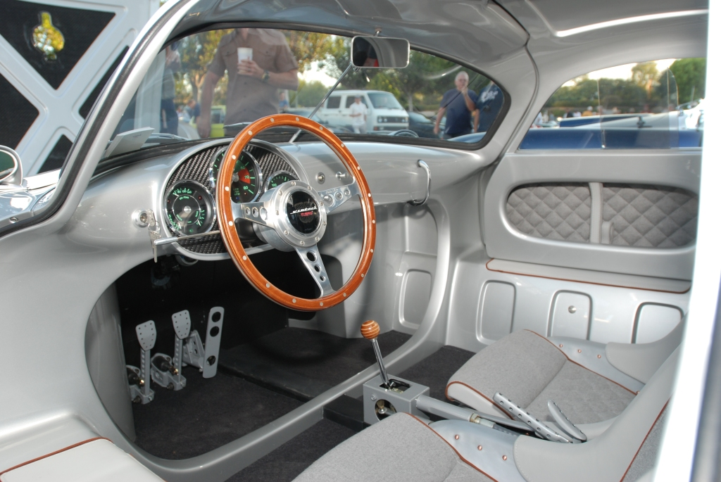 silver Vintech P-550 tribute_interior shot, drivers side_Cars&Coffee/Irvine_September 1, 2012