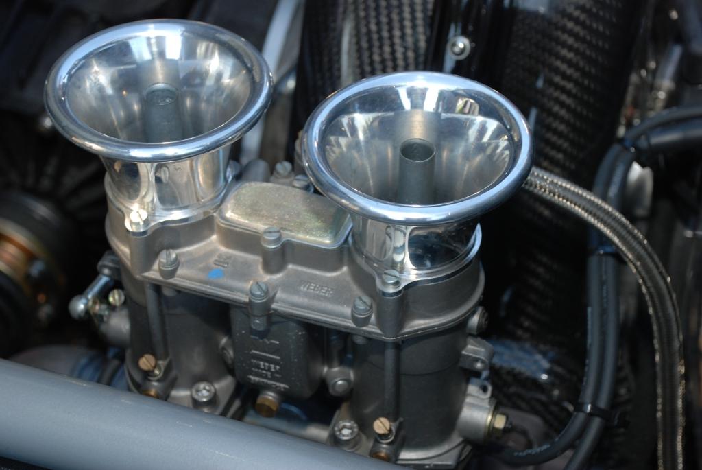 silver Vintech P-550 tribute_ Weber carb & venturi details__Cars&Coffee/Irvine_September 1, 2012