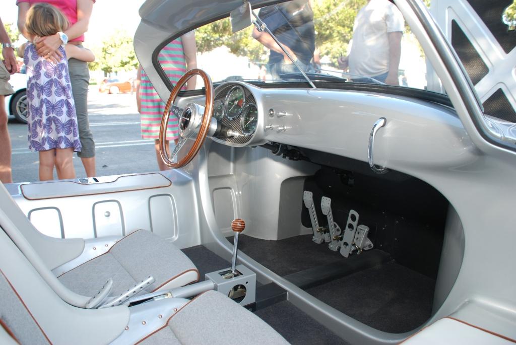 silver Vintech P-550 tribute_ interior detail_Cars&Coffee/Irvine_September 1, 2012