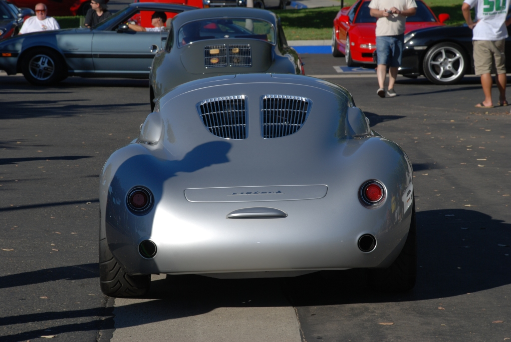 silver Vintech P-550 tribute_rear view,departure_Cars&Coffee/Irvine_September 1, 2012
