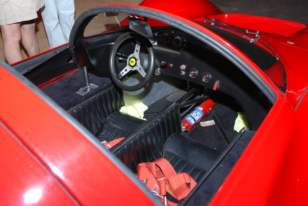 Red 1967 Ferrari 330 P4 recreation_interior_Cars&Coffee_September 29, 2012