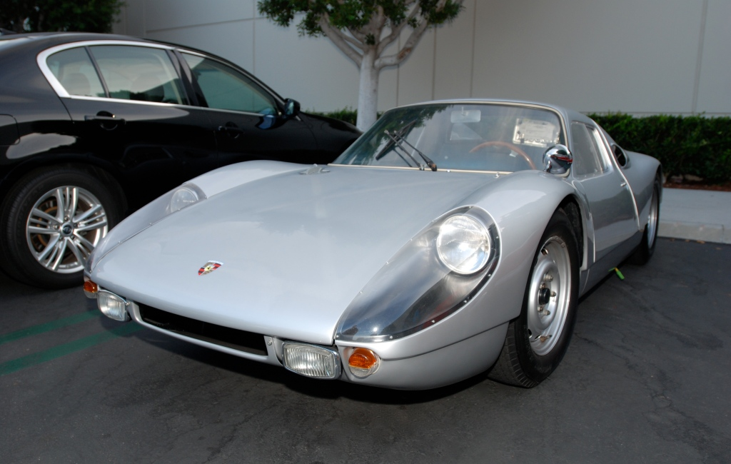 1964 Silver Porsche 904 Carrera GTS_3/4 front view_Cars&Coffee_October 6, 2012